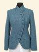 Plain Vintage Stand Collar Outerwear