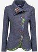 Flower Vintage Pockets Outerwear