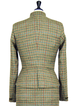 Khaki Wool Blend Vintage Paneled Stand Collar Outerwear