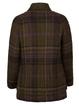 Army Green Long Sleeve Casual Shawl Collar Checkered/plaid Outerwear