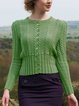 Cotton-Blend Vintage Knitted Sweater
