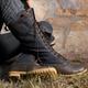 Womens Leather Fall Zipper Flat Heel Daily Boots