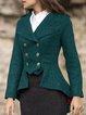 Long Sleeve Wool Blend Outerwear