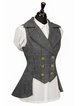 Casual Checkered/plaid Sleeveless Outerwear
