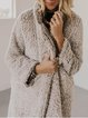 Apricot Casual Wool Blend plus size Outerwear