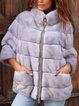 Plus size thick lamb coat Casual Zipper Outerwear