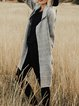 Cotton-Blend Long Sleeve Casual Solid plus size Outerwear