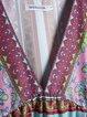 Boho Half Sleeve Casual V Neck Cotton-Blend Dresses