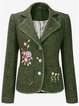 Embroidery Vintage Lapel Outerwear