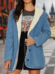 Blue Long Sleeve Paneled Outerwear