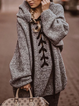 Casual Hoodie Cotton Solid Outerwear