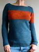 Crew Neck Long Sleeve Striped Knitted Sweaters