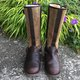 Womens Zipper Low Heel Daily Leather Winter Boots