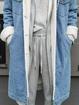 Plus size Casual Denim Outerwear