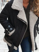 Plus size Cotton Long Sleeve Solid Outerwear