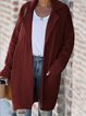Plus Size Long Sleeve Plain Casual Outerwear
