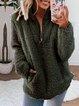 Casual Long Sleeve Patchwork Zipper Outerwear