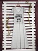 Short Sleeve Letter Cotton Casual Dresses