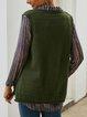 Green Floral-Print Vintage Geometric V Neck Sweaters
