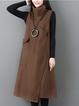 Turtle Neck Women Elegant Dresses A-Line Daily Pockets Dresses