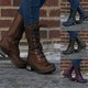 Artificial Leather Round Toe Comfy Mid Calf Boots