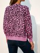 Vintage Leopard Print Long Sleeve Outerwear