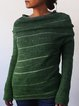 Long Sleeve Stripes Knitted Sweater