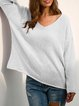 Long sleeve v-neck thin sweater basic top