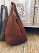 Brown Vintage Suede Solid Women's Bags