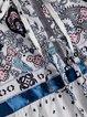 Floral-Print V Neck Long Sleeve Holiday Blouses