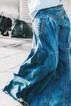 Blue Denim Plain Outdoor Paneled Pants