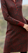 Red Long Sleeve Paneled Sweater