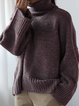 Turtleneck Knitted Long Sleeve Holiday Sweater
