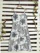Casual Floral Printed V-neck Sleeveless Midi Dress
