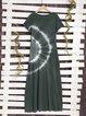 Ombre/tie-Dye Short Sleeve Dresses