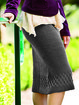 Knitted Shift Basic Skirts