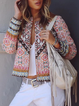 Casual plus size wind knit jacket