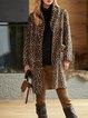 Velvet Leopard Print Elegant Outerwear