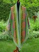 Green Floral Casual Cotton Scarves & Shawls
