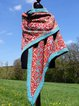 Red Tribal Cotton Sweet Scarves & Shawls