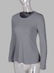 Casual Acrylic Plain Stretchy Sweater
