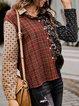 Women Asymmetric Holiday Floral-Print Paisley Shirts & Tops