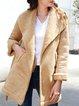 Shawl Collar Work Outerwear With Belt