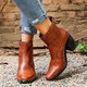Women Winter Artificial Leather Ankle Boots