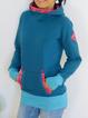 Hoodie Floral-Print Long Sleeve Casual Sweatshirt