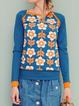 Casual Long Sleeve Floral-Print Shirts & Tops