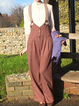 Rust Paneled Plain Vintage Pants