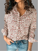 Cotton Long Sleeve Casual V Neck Shirts & Tops