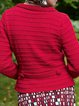 Solid Knitted Cardigan Plus Size Sweater