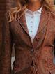 Brown Paneled Vintage Cotton-Blend Blazer